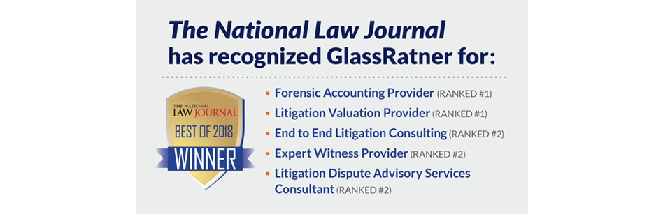 "GlassRatner Recognized In Several ""Best of 2018"" Categories by the National Law Journal"